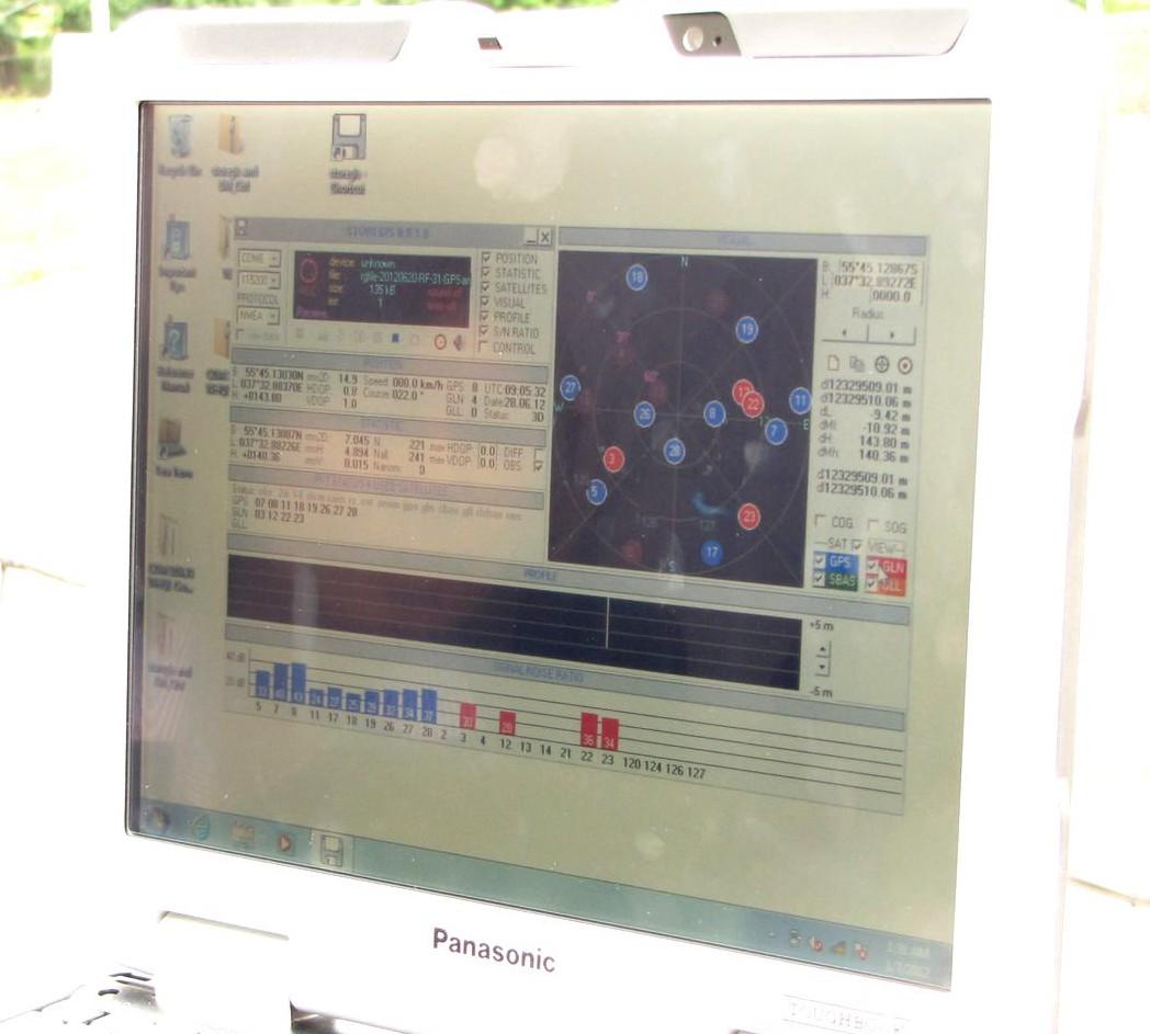Защищенный ноутбук Panasonic. ГЛОНАСС навигатор