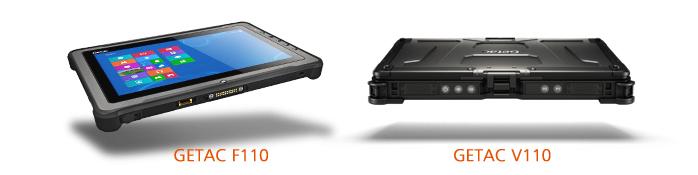 Защищенные планшеты Getac F110 и Getac V110